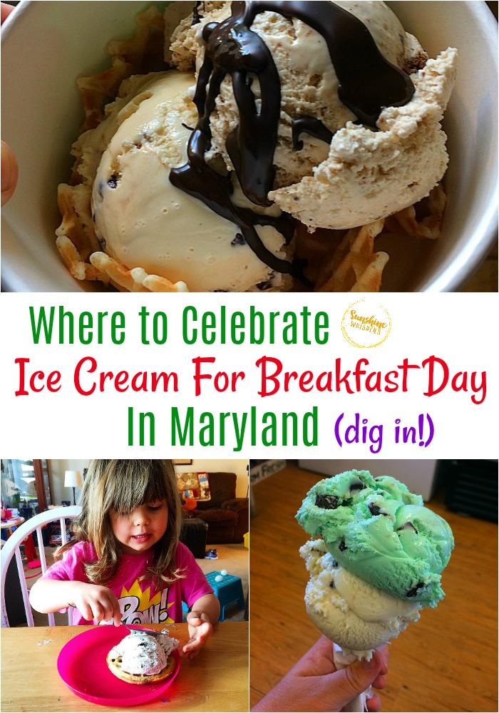 ice cream for breakfast day in maryland