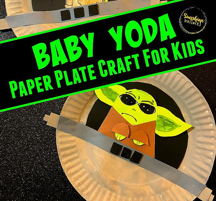 Baby Yoda Paper Plate Craft for Kids