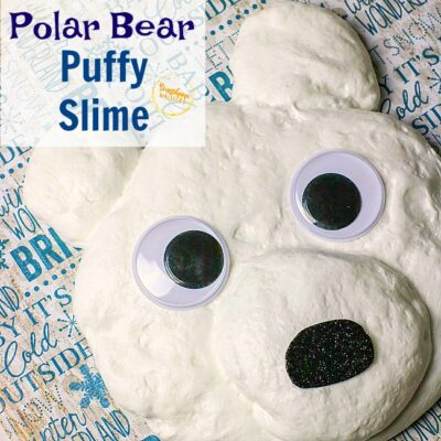 polar bear puffy slime