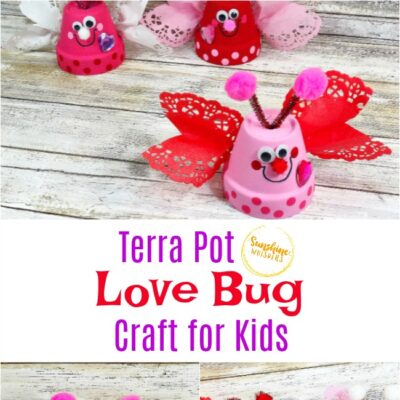 Dollar Store Clay Pot Love Bugs Craft For Kids