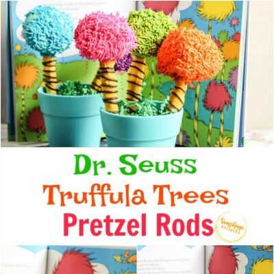 Dr. Seuss Truffula Tree Pretzel Rods