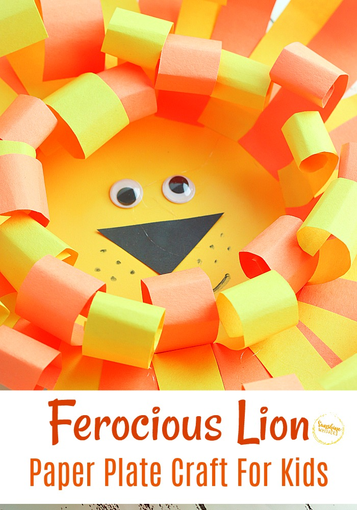 lion paper plate craft for kids