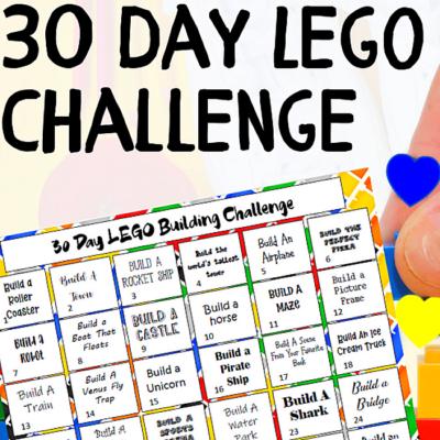 30 Day LEGO Challenge FREE Printable Activity Calendar!