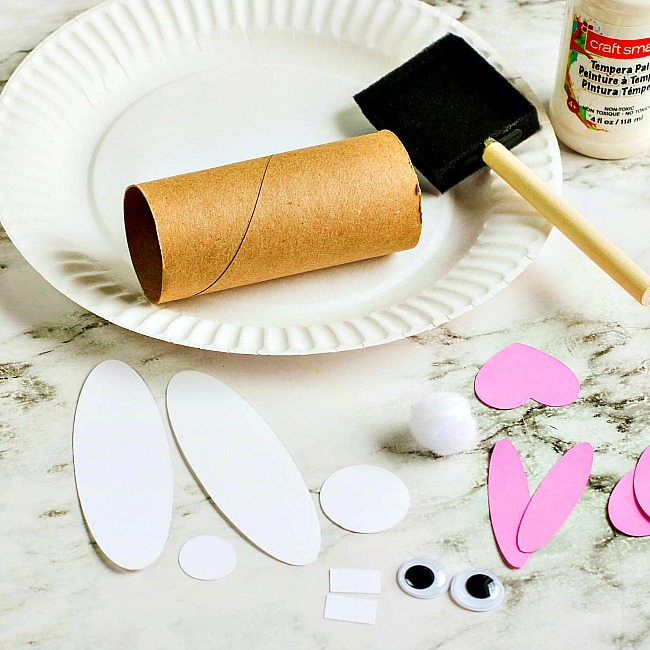 Easter Bunny Toilet Paper Roll Craft For Kids
