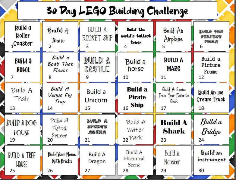 LEGO Challenge Printable