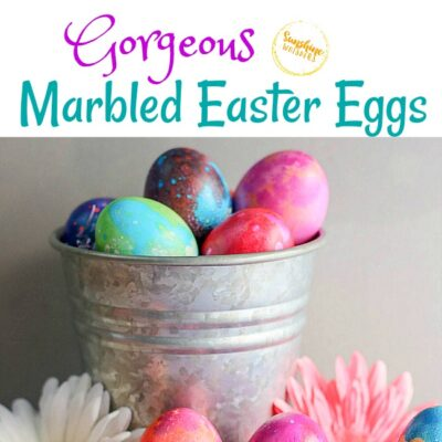Gorgeous Marbled Easter Eggs Without A Kit