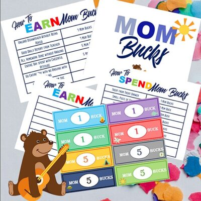 Mom Bucks Reward System Printable Pack