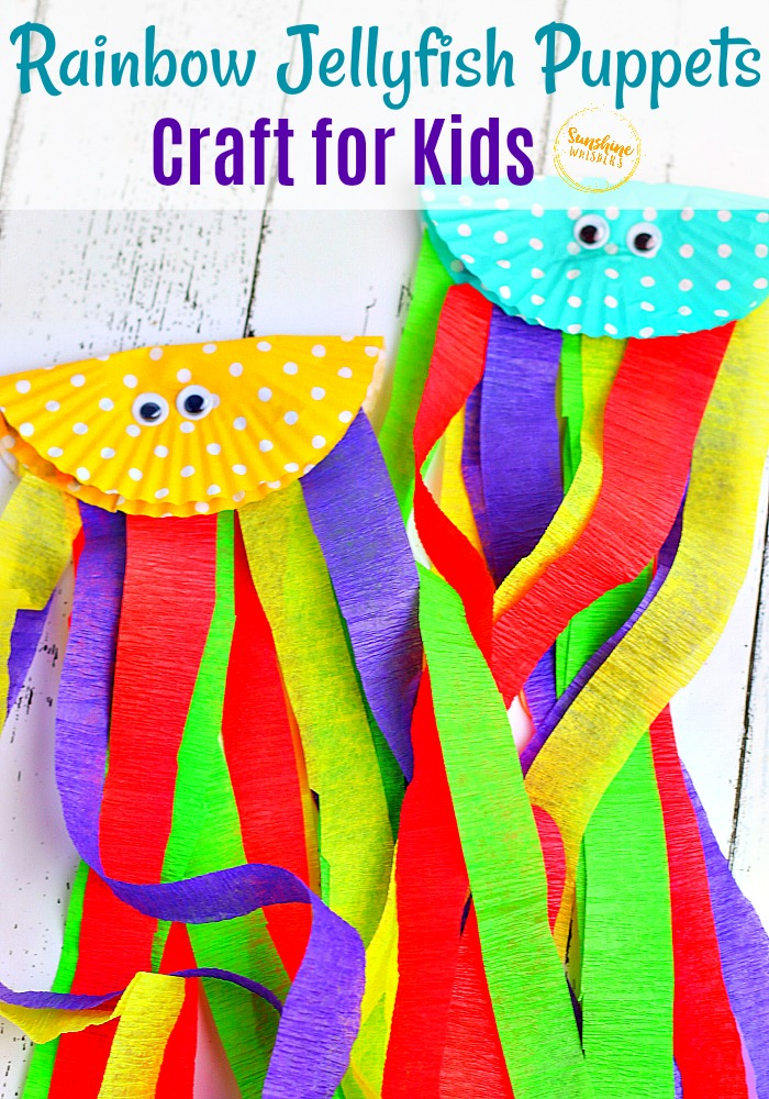 Rainbow Jellyfish Puppets Craft