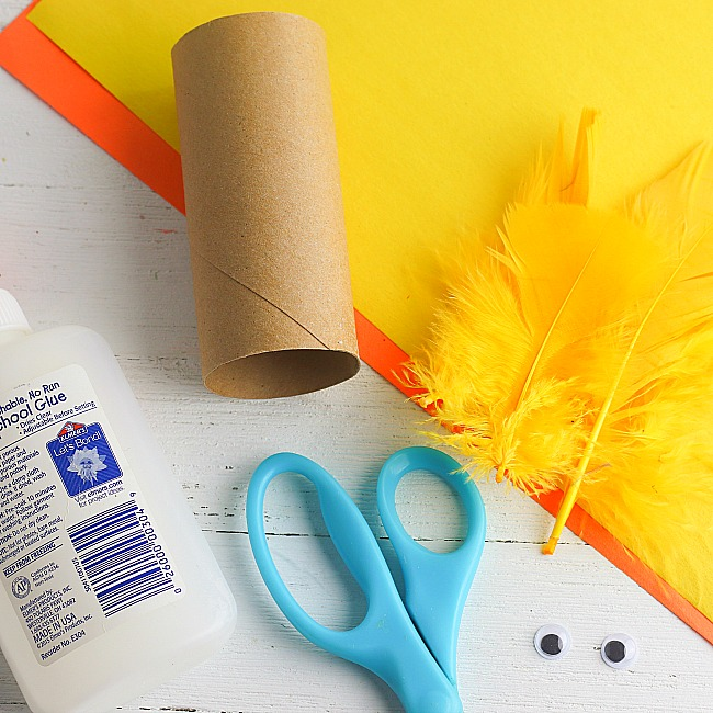 chick toilet paper roll craft