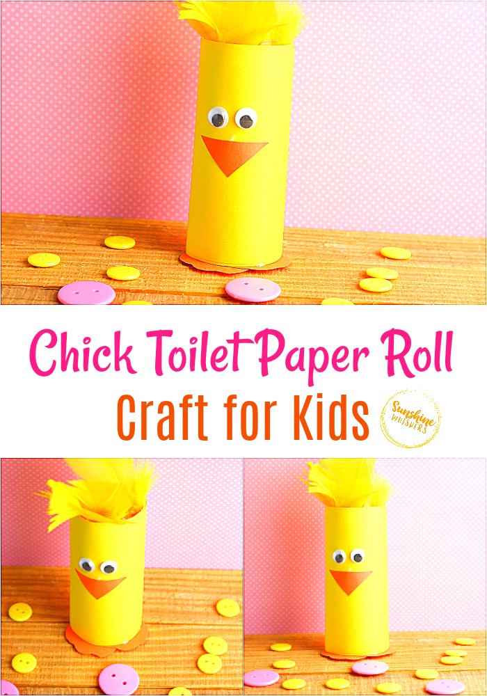 chick toilet paper roll craft for kids