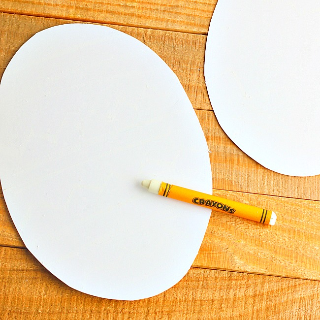 crayon resist watercolor easter eggs