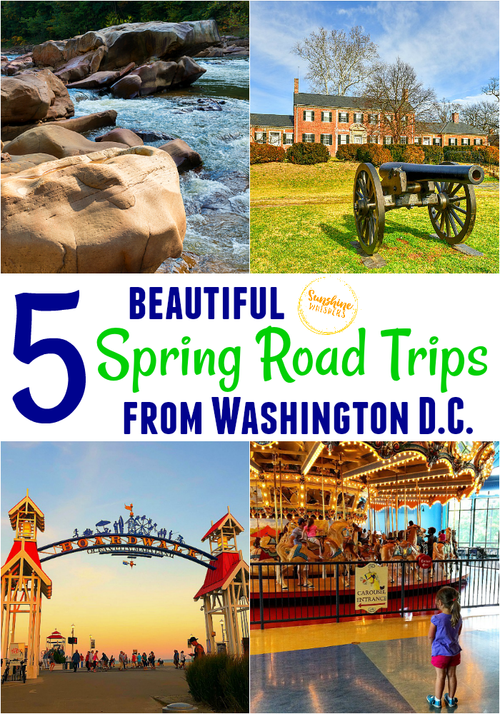 spring road trips from washington dc