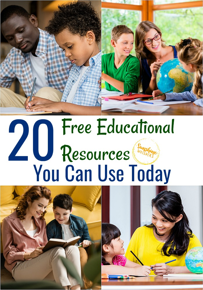 free educational resources you can use today