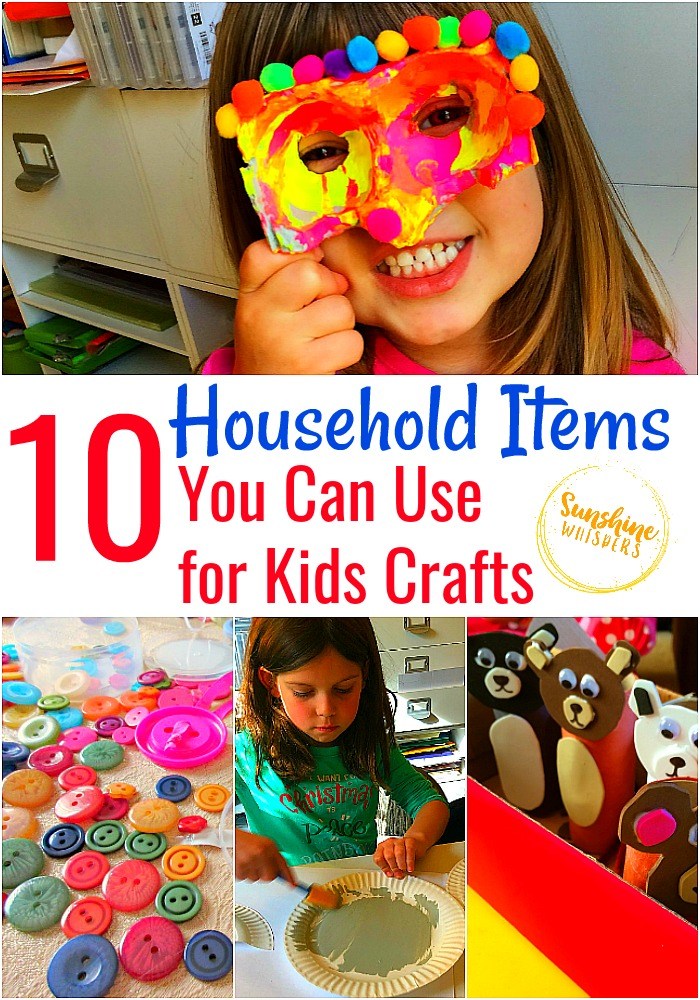 household items you can use for kids crafts