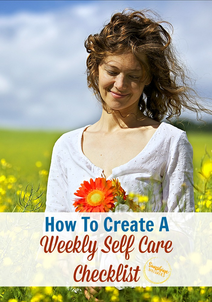 how to create a weekly self care checklist