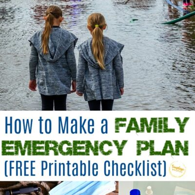 How to Make a Family Emergency Plan (with FREE Printable Checklist)