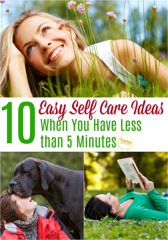 easy self care ideas