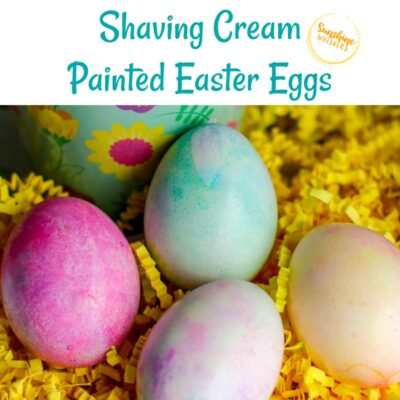 Beautiful Shaving Cream Painted Easter Eggs