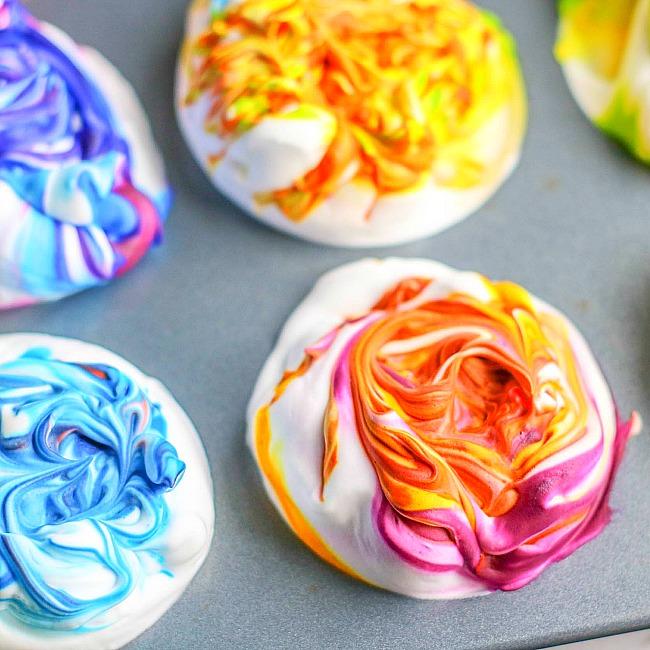 shaving cream painted easter eggs