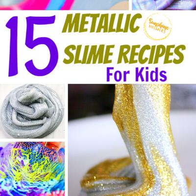 15 Metallic Slime Recipes For Kids