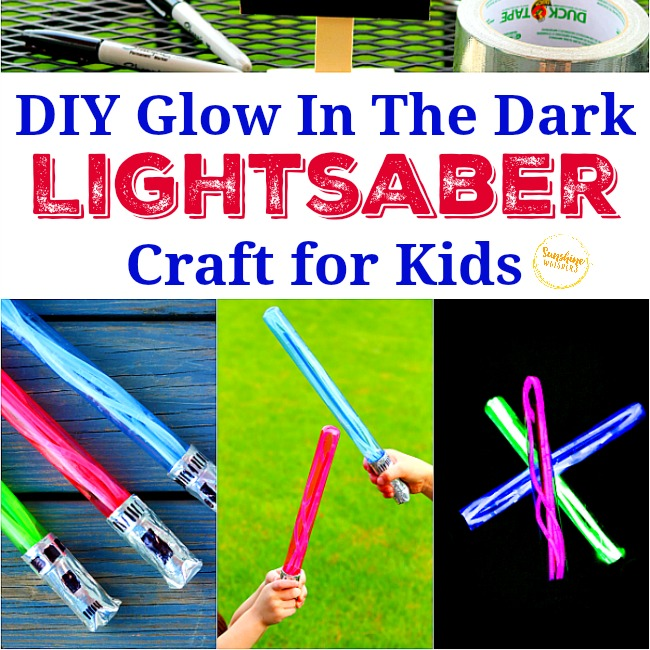 DIY Glow in the dark lightsaber craft for kids
