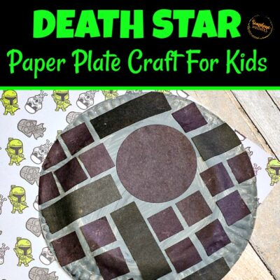 Death Star Paper Plate Craft For Kids