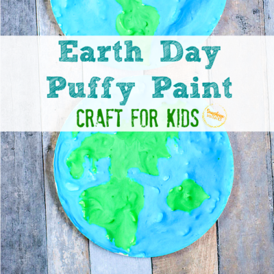Earth Day Puffy Paint Craft For Kids (With FREE Template)