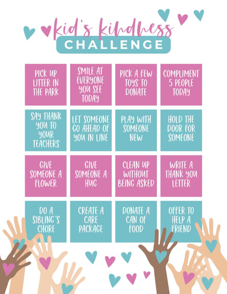 kid's kindness challenge