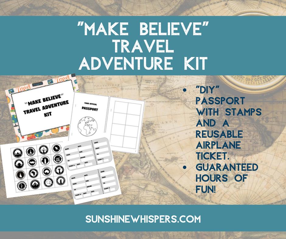make believe travel adventure kit