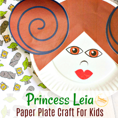 Princess Leia Paper Plate Craft For Kids (With FREE Template)