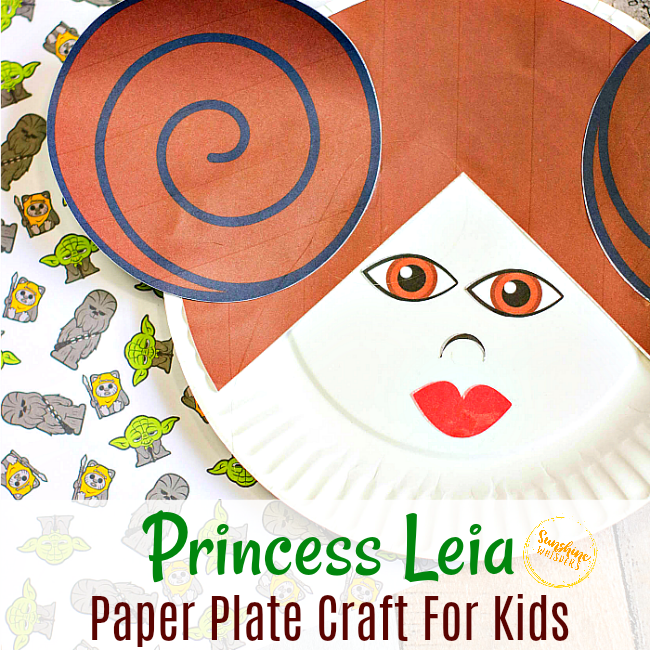 Princess Leia Paper Plate Craft for Kids 10