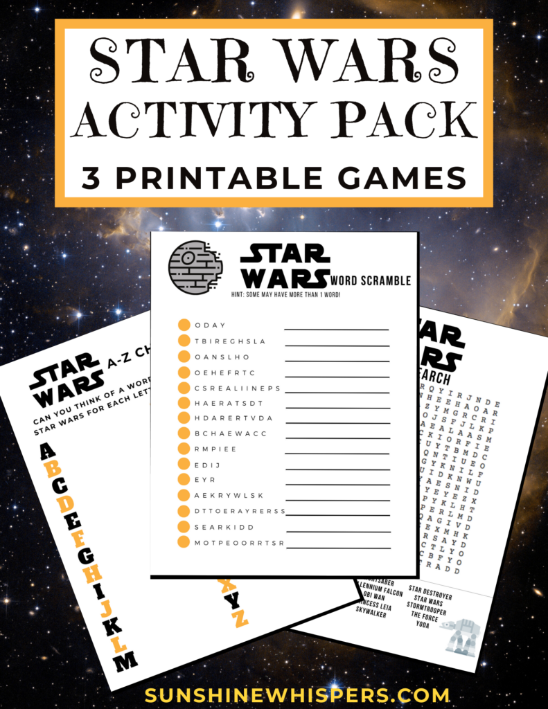 Star Wars Activity Pack for Kids