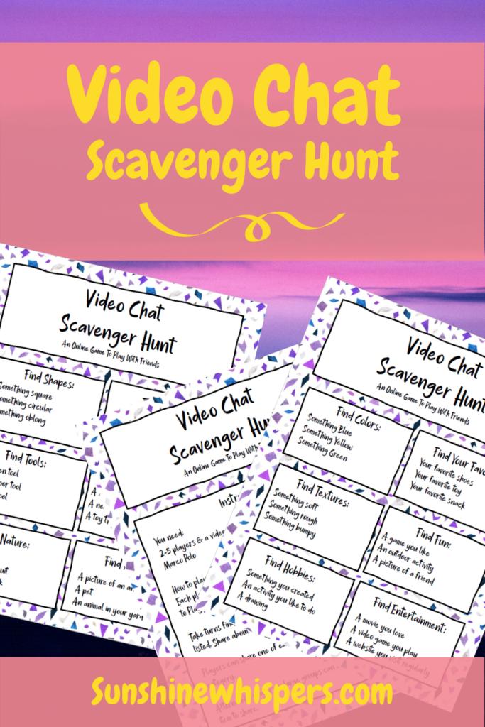 Video Chat Scavenger Hunt