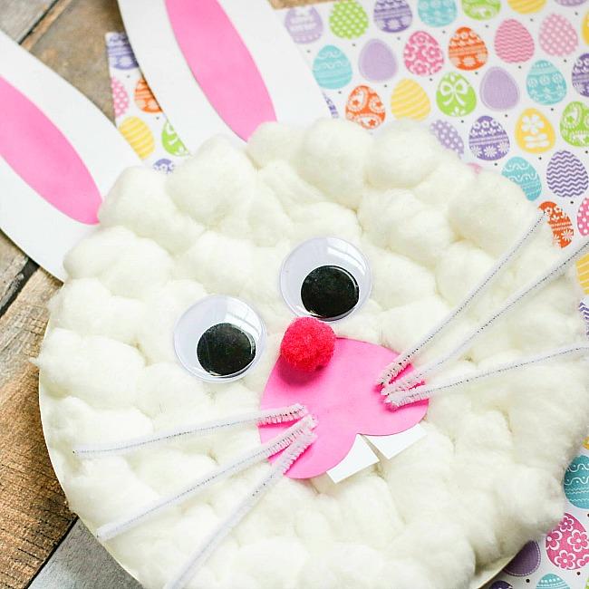 bunny rabbit paper plate craft