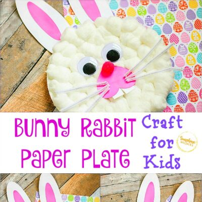 bunny rabbit paper plate craft