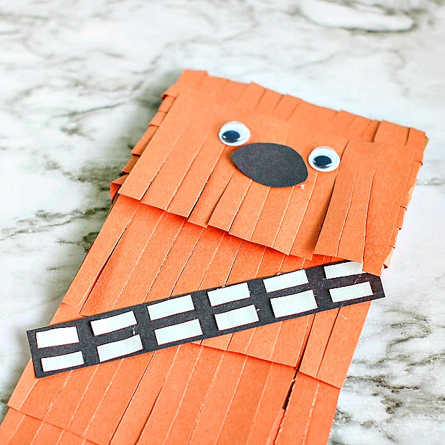 Chewbacca Paper Bag Puppet Craft for Kids