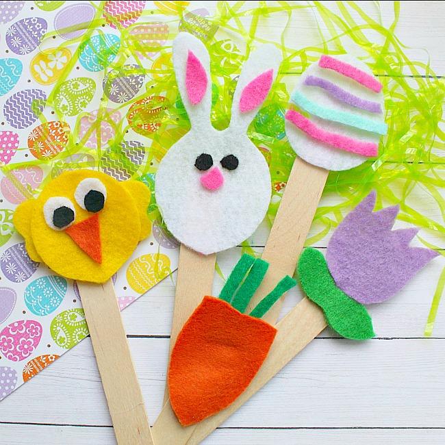 Felt Easter Puppets Craft