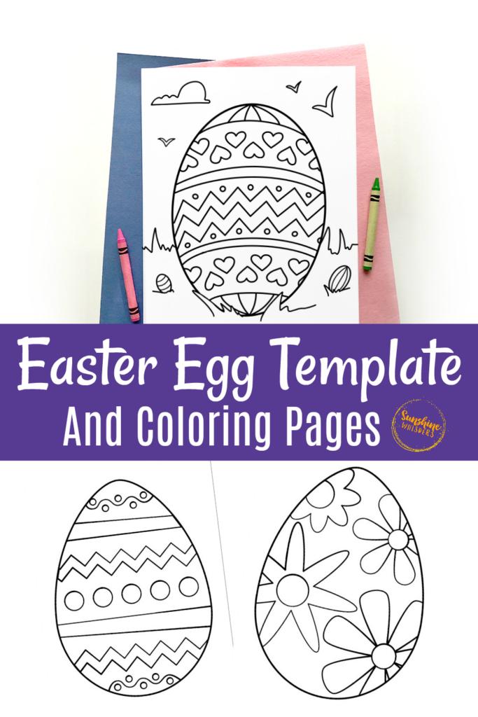 free printable easter egg template and coloring pages