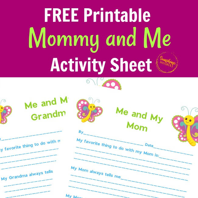 Mommy and Me Activity Sheet