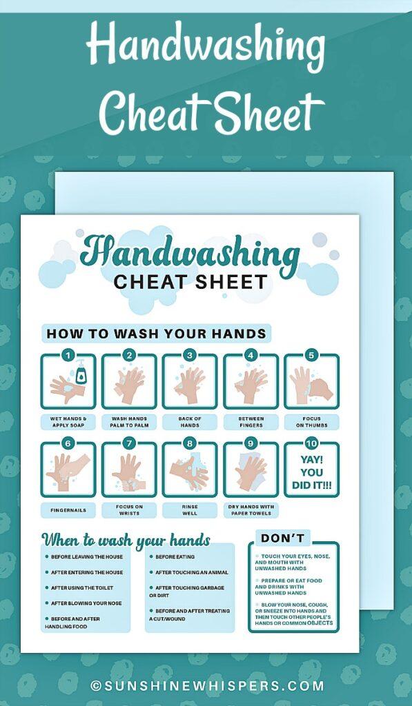 handwashing cheat sheet printable 1