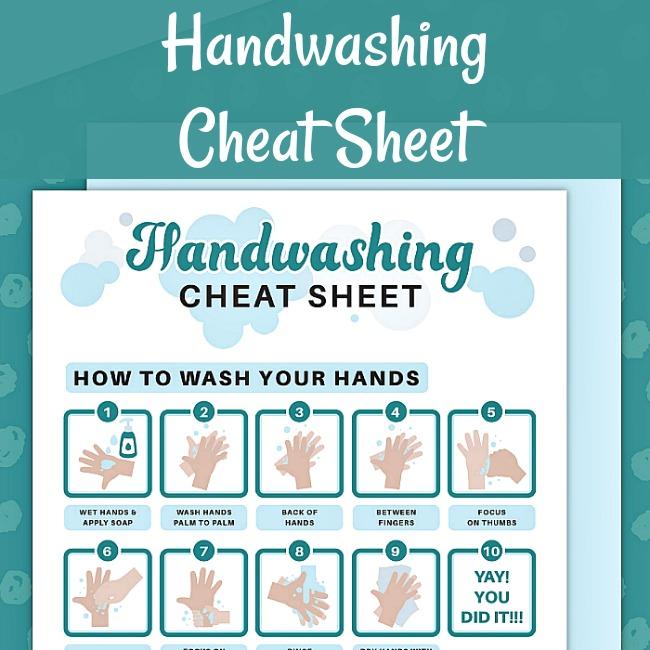 handwashing cheat sheet printable