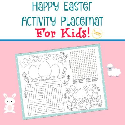 FREE Printable Easter Activity Placemat For Kids