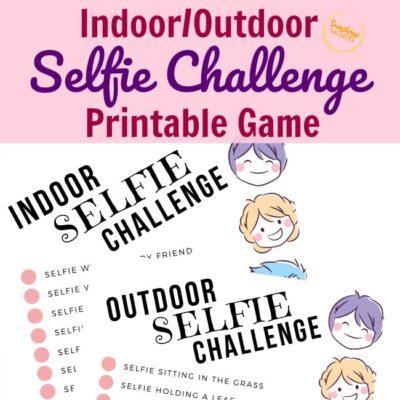 Indoor-Outdoor Selfie Challenge Printable Game For Kids