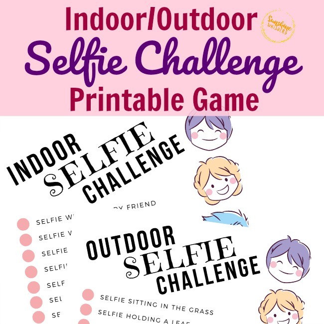 selfie challenge printable game