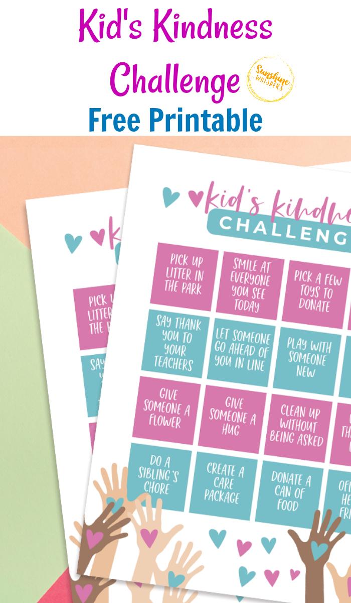 kids kindness challenge