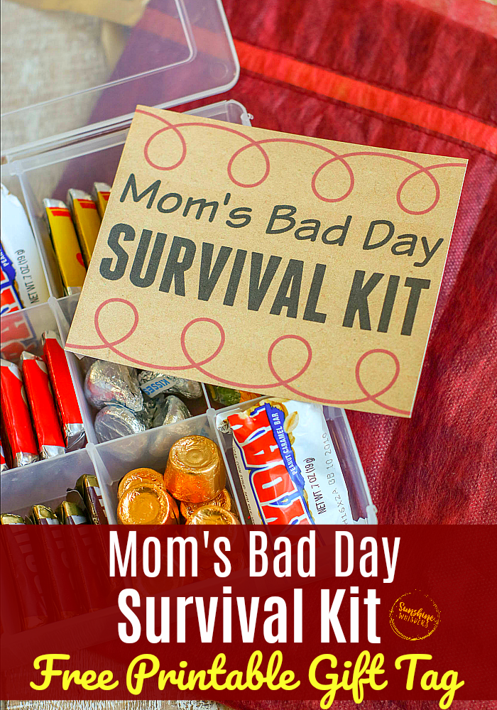 mom's bad day survival kit free printable gift tag