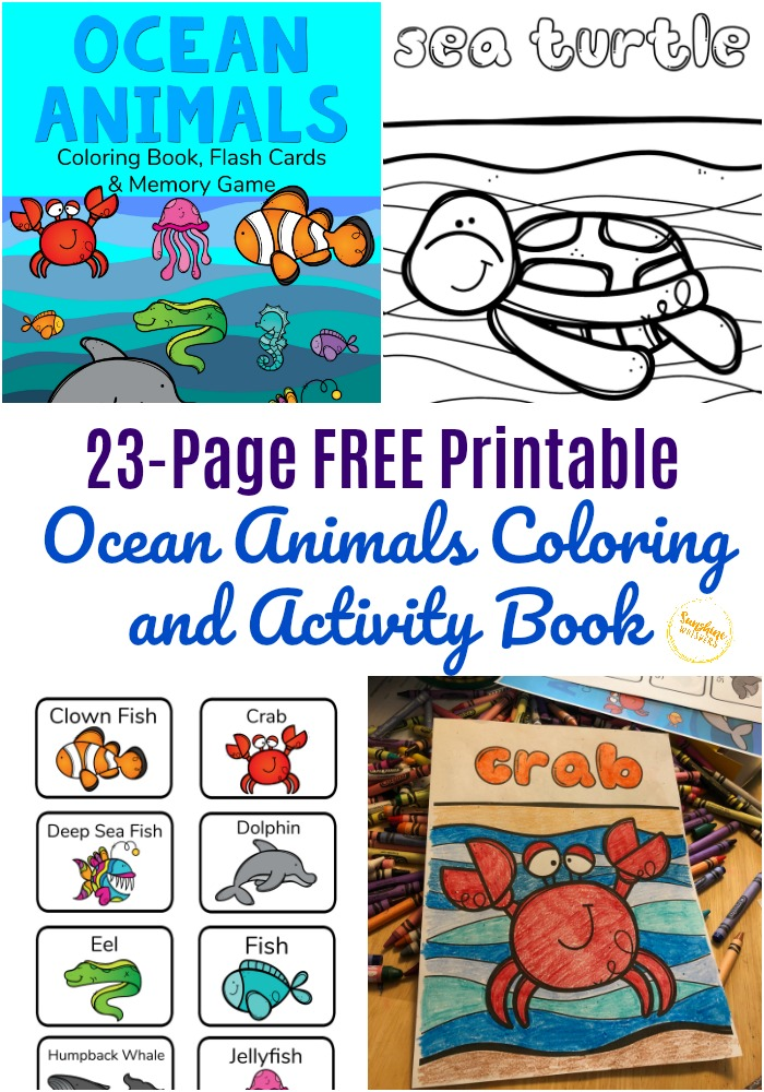 Sea animals | Animal coloring pages, Ocean coloring pages, Free ... | 1000x700