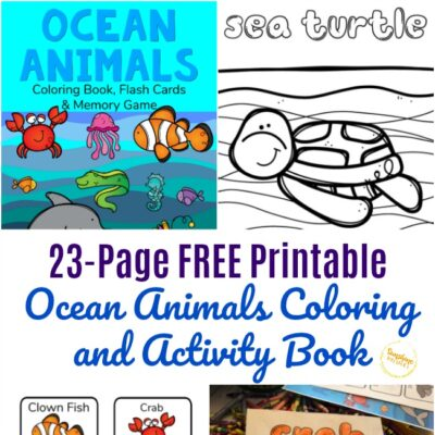 FREE Printable Ocean Animals Coloring Book and Activity Pack
