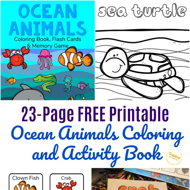 - FREE Printable Ocean Animals Coloring Book And Activity Pack