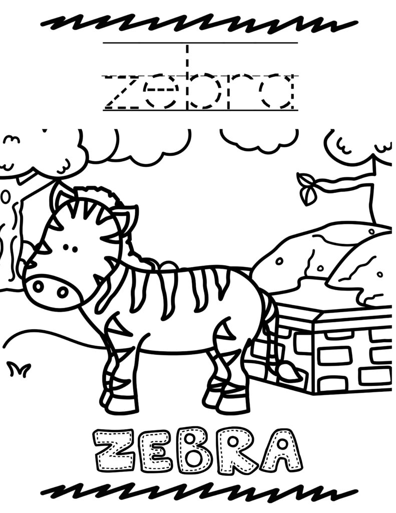 Free Printable Zoo Animal Coloring Book For Kids